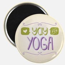 """Yay for Yoga 2.25"""" Magnet (100 pack)"""