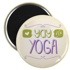"""Yay for Yoga 2.25"""" Magnet (10 pack)"""