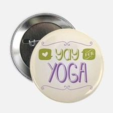 """Yay for Yoga 2.25"""" Button"""