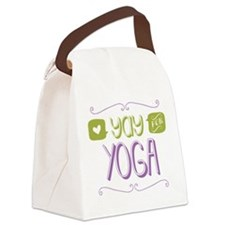 Yay for Yoga Canvas Lunch Bag