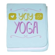 Yay for Yoga baby blanket