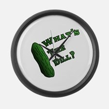 Whats the Dill? Large Wall Clock