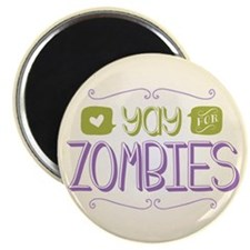 """Yay for Zombies 2.25"""" Magnet (100 pack)"""
