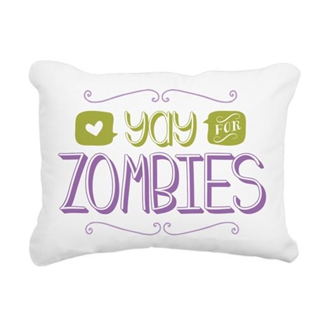 Yay for Zombies Rectangular Canvas Pillow