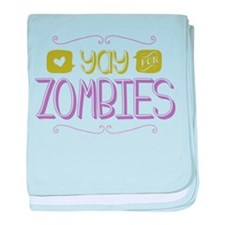 Yay for Zombies baby blanket