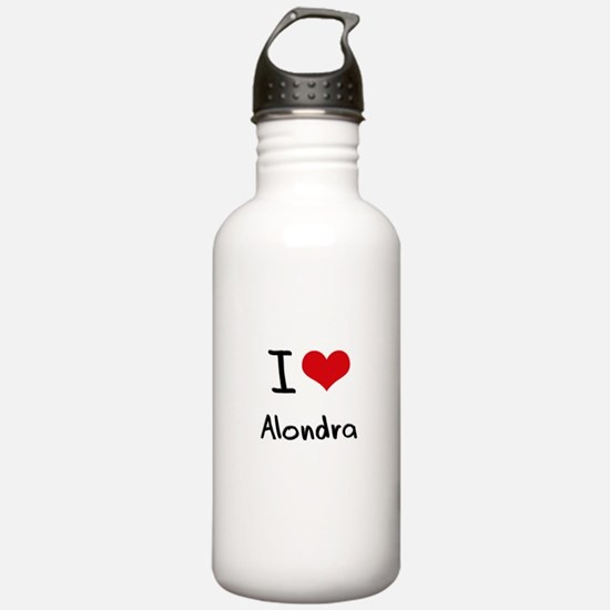 I Love Alondra Water Bottle