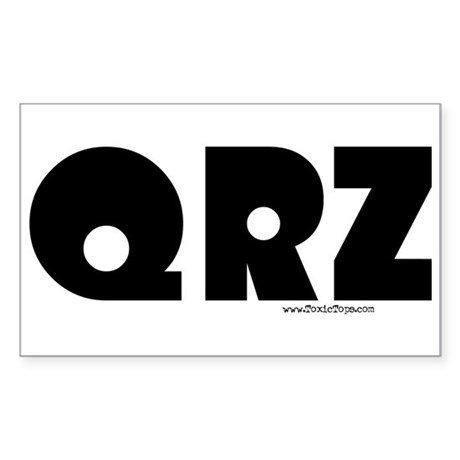 QRZ Rectangle Sticker