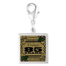 Vintage 85th Birthday (Gold) Silver Square Charm