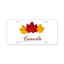 Canadian Maple Leaves Aluminum License Plate