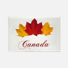 Canadian Maple Leaves Rectangle Magnet