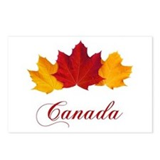 Canadian Maple Leaves Postcards (Package of 8)