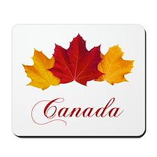 Canadian Maple Leaves Mousepad