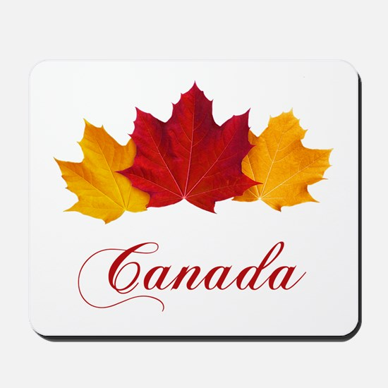 Canadian Maple Leaves Mousepad