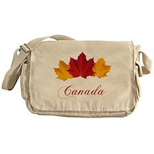 Canadian Maple Leaves Messenger Bag