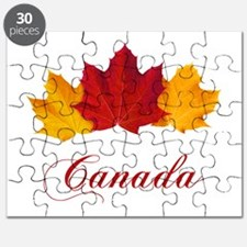 Canadian Maple Leaves Puzzle