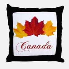 Canadian Maple Leaves Throw Pillow