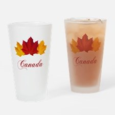 Canadian Maple Leaves Drinking Glass