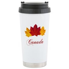 Canadian Maple Leaves Travel Mug