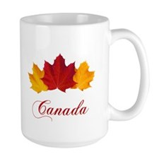Canadian Maple Leaves Ceramic Mugs