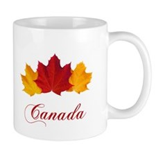 Canadian Maple Leaves Small Mugs