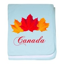 Canadian Maple Leaves baby blanket