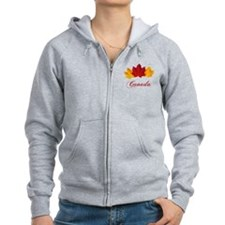Canadian Maple Leaves Zipped Hoody
