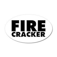 Firecracker 35x21 Oval Wall Decal