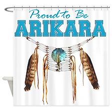 Proud to be Arikara Shower Curtain