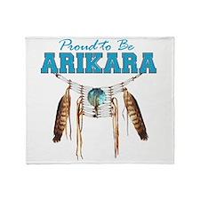 Proud to be Arikara Throw Blanket