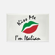 Kiss Me I'm Italian Rectangle Magnet