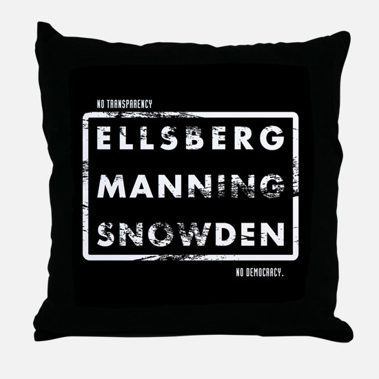 Ellsberg Manning Snowden Throw Pillow