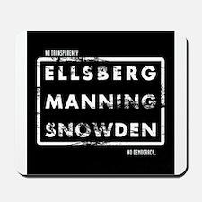 Ellsberg Manning Snowden Mousepad