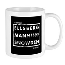 Ellsberg Manning Snowden Mug