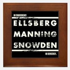 Ellsberg Manning Snowden Framed Tile