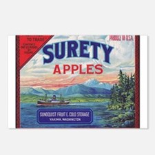 Surety Apples - larger Postcards (Package of 8)