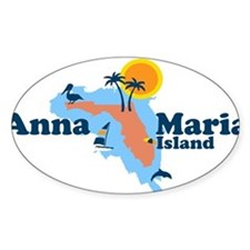 Anna Maria Island - Map Design. Decal
