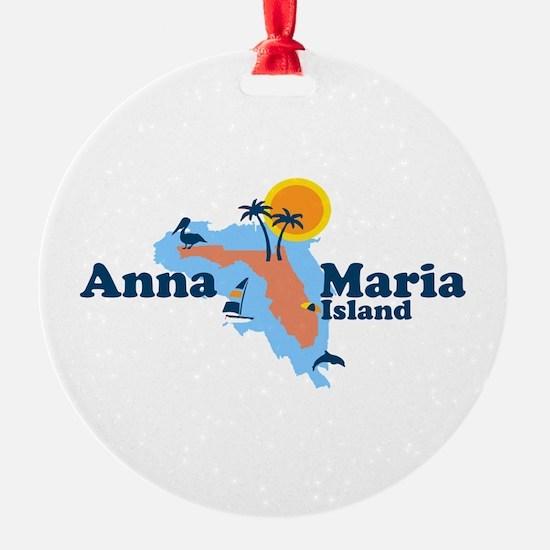 Anna Maria Island - Map Design. Ornament