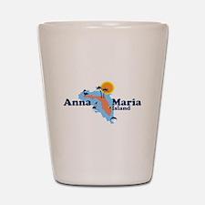 Anna Maria Island - Map Design. Shot Glass