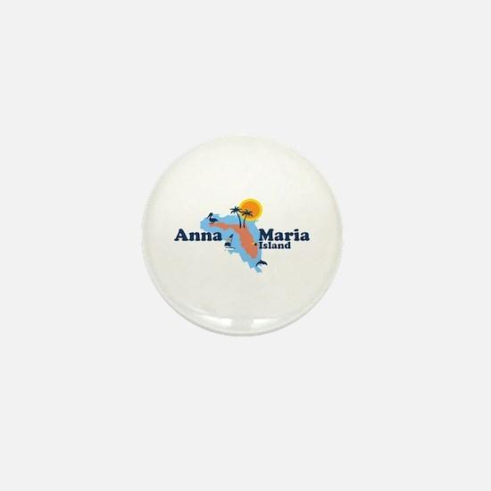 Anna Maria Island - Map Design. Mini Button