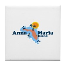 Anna Maria Island - Map Design. Tile Coaster