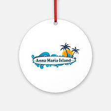 Anna Maria Island - Surf Design. Ornament (Round)