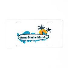 Anna Maria Island - Surf Design. Aluminum License