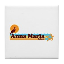 Anna Maria Island - Beach Design. Tile Coaster