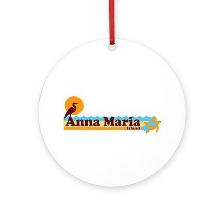 Anna Maria Island - Beach Design. Ornament (Round)