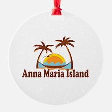 Anna Maria Island - Palm Trees Design. Ornament