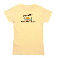 Anna Maria Island - Palm Trees Design. Girl's Tee