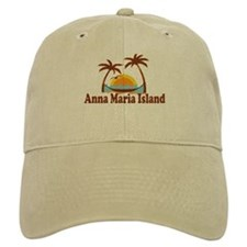 Anna Maria Island - Palm Trees Design. Baseball Cap