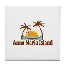 Anna Maria Island - Palm Trees Design. Tile Coaste