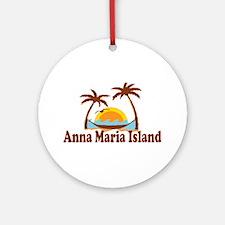 Anna Maria Island - Palm Trees Design. Ornament (R