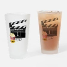 1st Birthday Hollywood Theme Drinking Glass